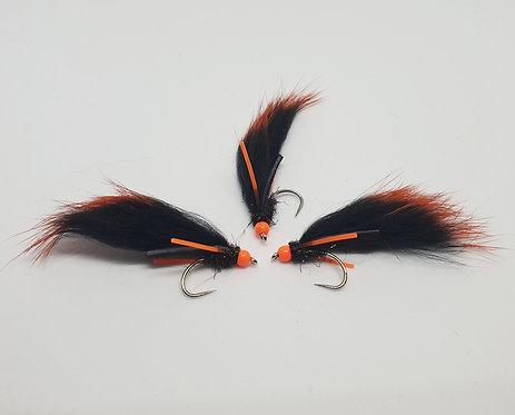 Black & Orange Mini Zonker