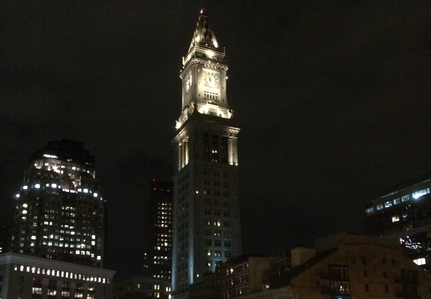 Custom House Tower-Boston Night Shot