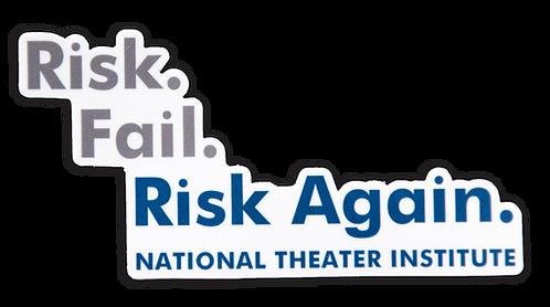 Risk. Fail. Risk Again. Sticker