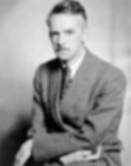 A portrait of Eugene O'Neill, playwright.