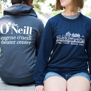 Two people sitting together with O'Neill branded sweatshirts