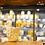 Thumbnail: Petit photophore en céramique  blc et doré +-8cm