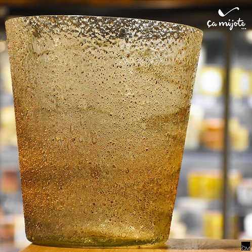 vase en verre transparent et structuré +-20cm