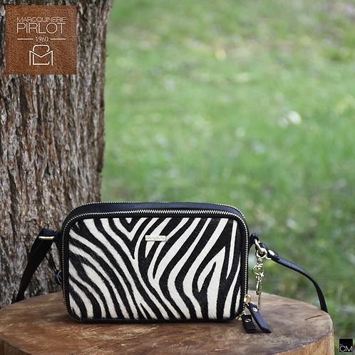Loulou 21 pouch 20LG wild zebra