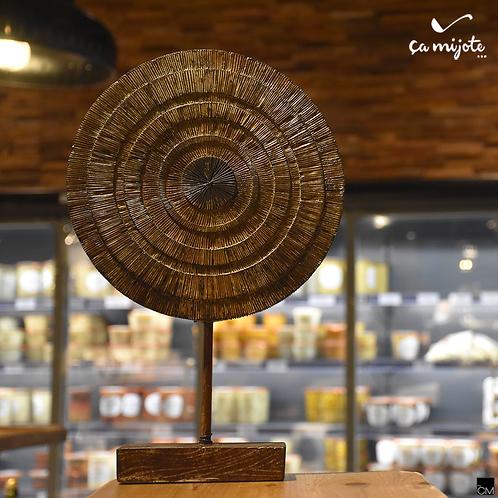cercle en bois et métal design - 40 cm -
