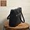Thumbnail: FMME Caithy 15.6 croco 001 black cuir