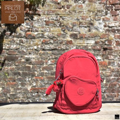 Kipling Heart Bacpack true pink