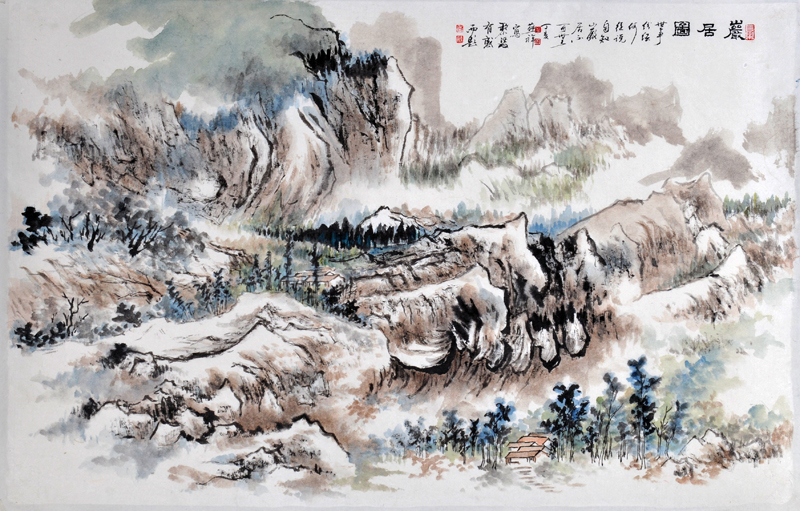 巖居圖 Landscape