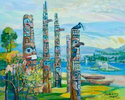 Thunderbird, oil on canvas, 24x30b