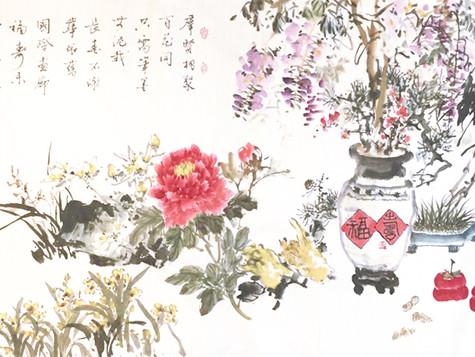 雲城雅集聚會 第256 次集體作畫 在國際畫廊 11 月11 日