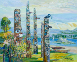 Thunderbird, oil on canvas,