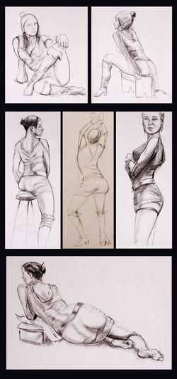 g)Life Drawing  5-30 min poses