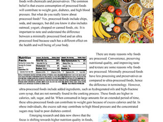 Effects of Processed Foods on Health