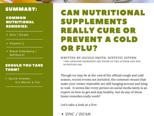 Can Nutritional Supplements Really Cure or Prevent a Cold or Flu?