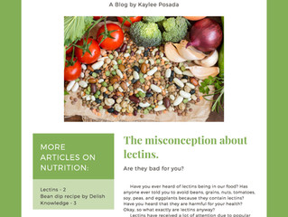 What are Lectins? Are They Bad For You? by dietetic intern Kaylee Posada
