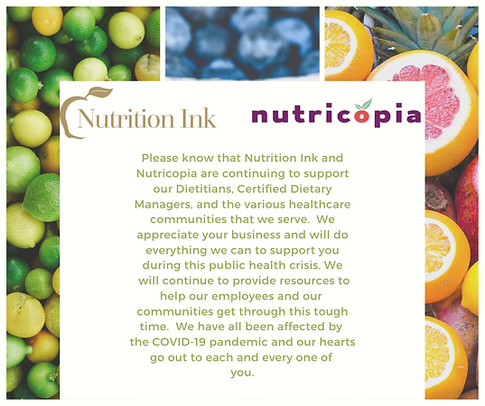Please know that Nutrition Ink and Nutri