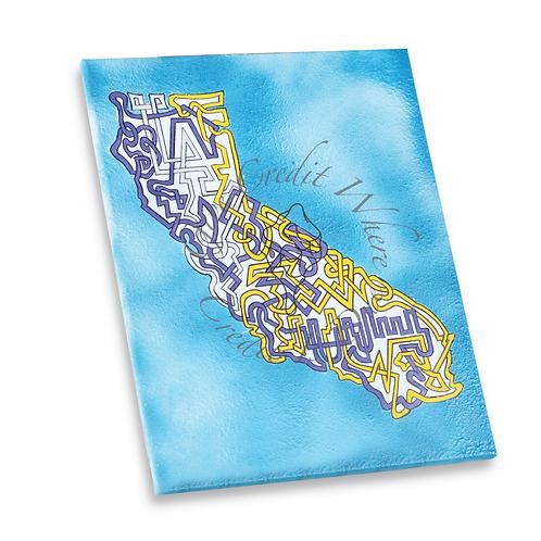 """Lakers Cali"" Acrylic 16""x 20"" Canvas"