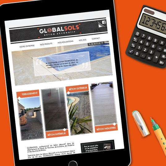 Site internet www.globalsols.fr