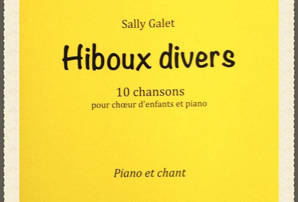 Hiboux divers /Lot de 10 Piano et chant