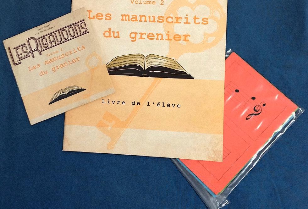 Les manuscrits du grenier Livre de l'élève + CD