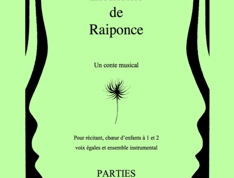 Eléments de Raiponce 12 parties instrumentales