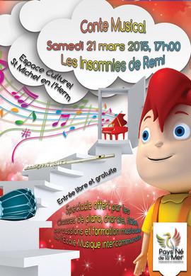 Affiche Les Insomnies de Remi Ecole de musique de Saint Michel en l'Herm 2015.jpg