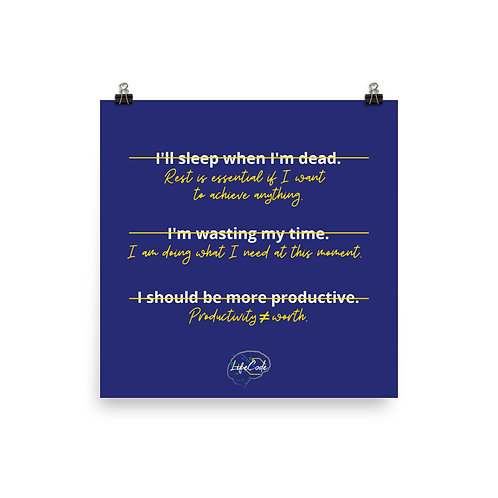 Rewriting Rest Narrative Poster