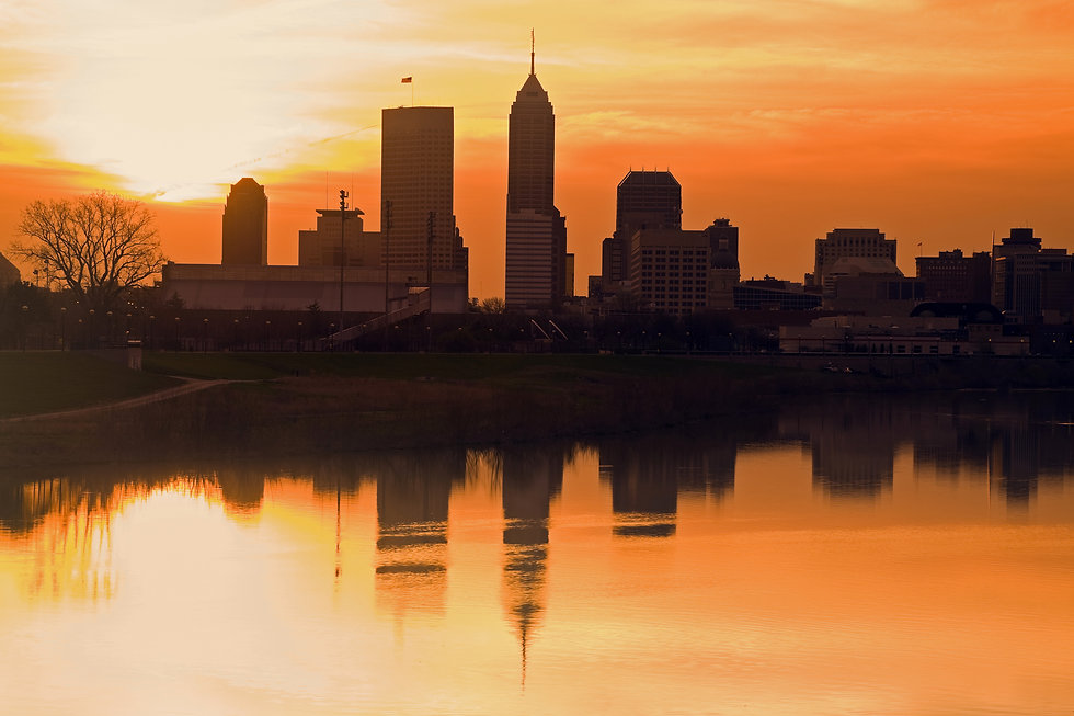 Morning silhouette of Indianapolis, Indiana, USA.jpg