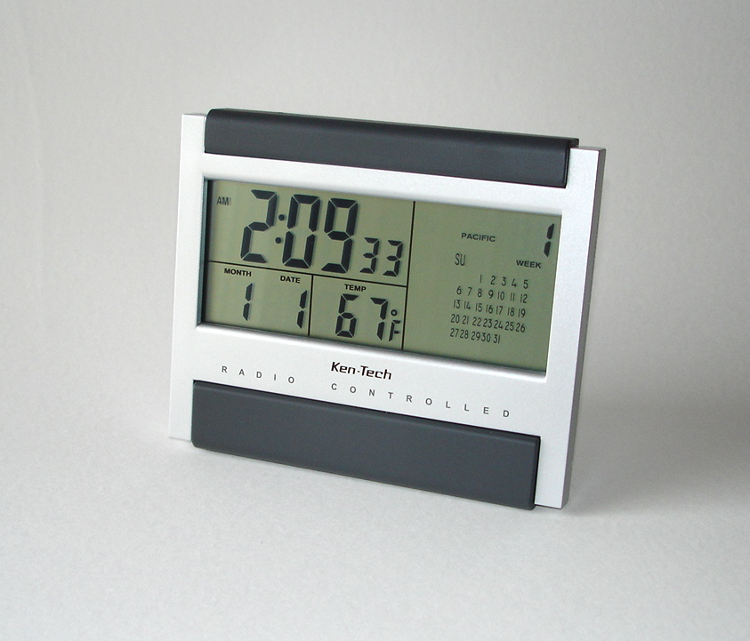ATOMIC ALARM CLOCK CALENDAR