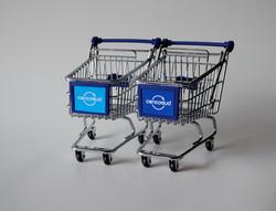 Mini Shopping Cart - Blue