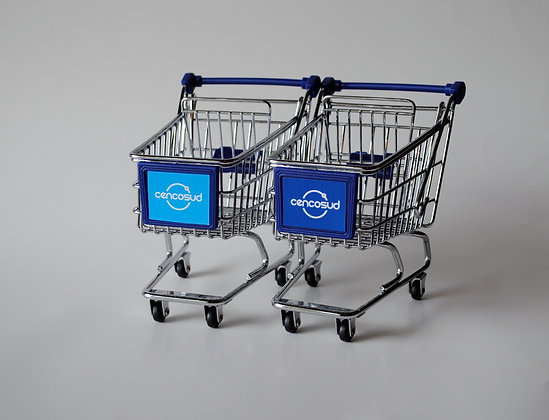 MINI SHOPPING CART - BLUE