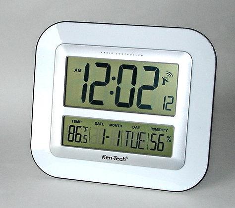 Atomic Alarm Clock w/Jumbo Display, Cal & Temp