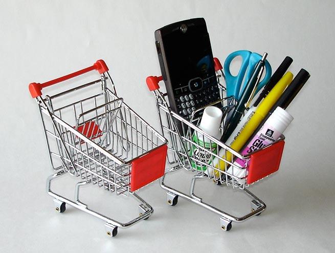 Mini Shop Cart - Red