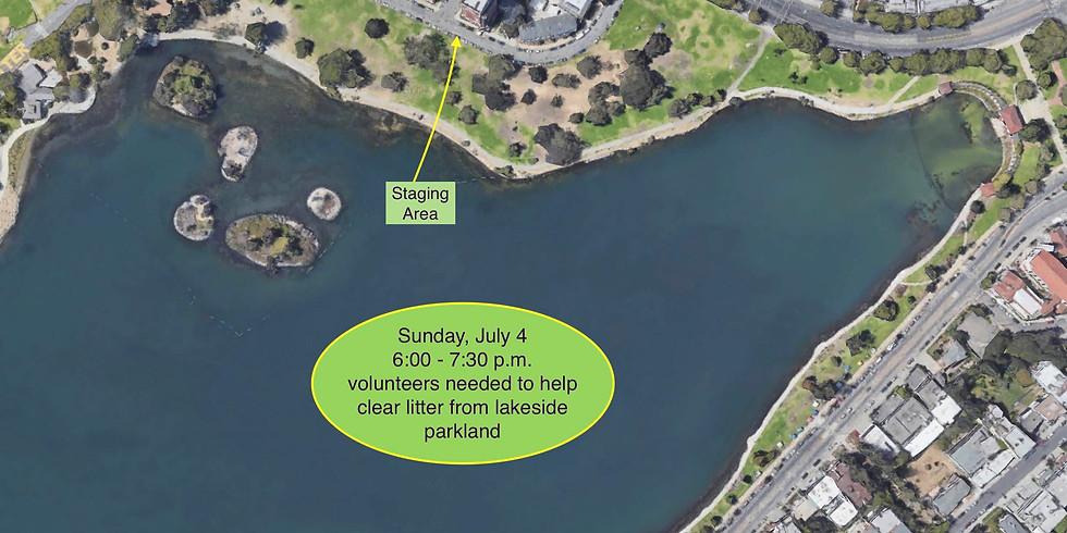 July 4th Untrash Workparty at Lake Merritt