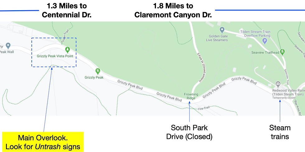 Grizzly Peak Cleanup this Sunday!