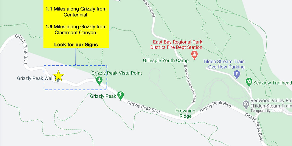Grizzly Peak Work Party this Sunday!