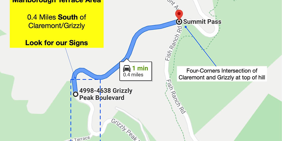 Grizzly Peak / Marlborough Terrace Cleanup this Sunday