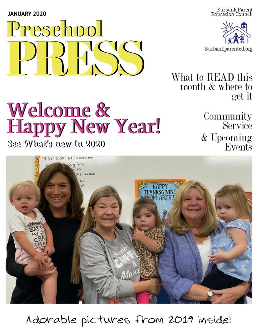Jan 2020 Preschool Press Cover