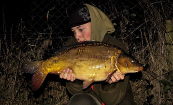 Brad Pearson with one of the North House Lake Stockies