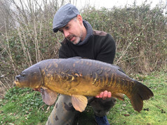 Gavin Jones, 17lb Mirror from North House, his first session on the lake.