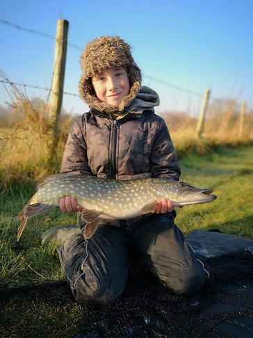 Dexter went pike fishing on the Ouse with his dad on Sunday and had a good result