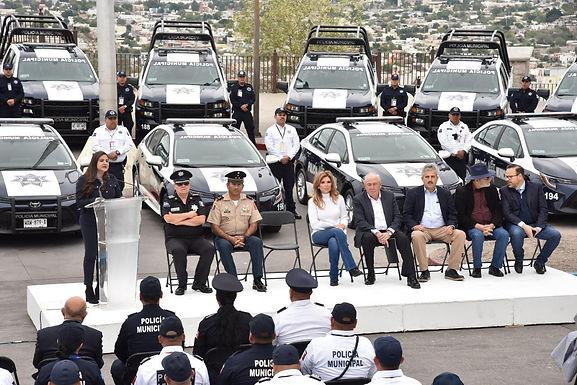 Refuerza Celida López seguridad pública en Hermosillo con 15 nuevas patrullas