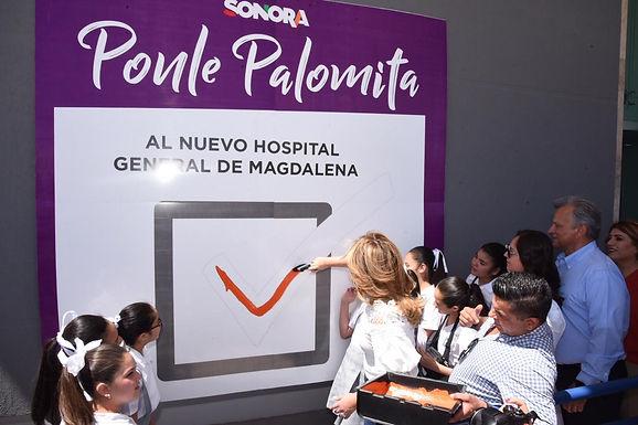 Supervisa Gobernadora nuevo Hospital de Magdalena
