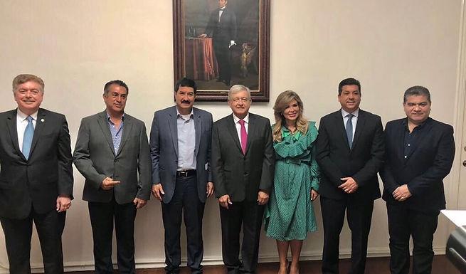 AMLO y gobernadores fronterizos se reúnen