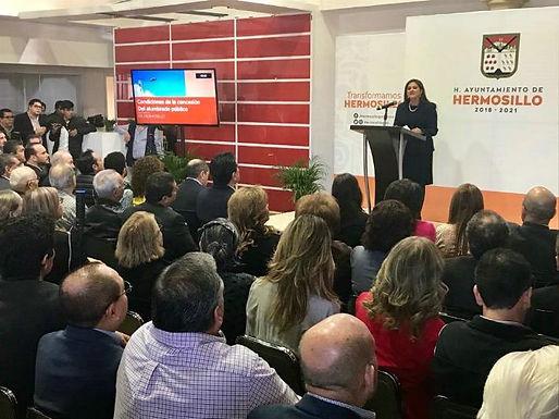 Célida López esclarece sobre el tema del Alumbrado Público