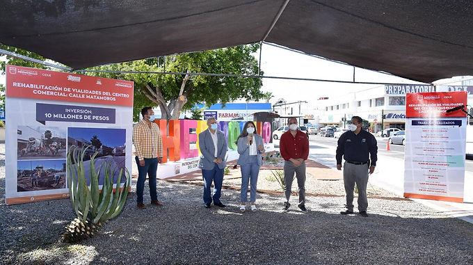 Entrega Celida López rehabilitación de la calle Matamoros y anuncia nuevas obras para el Centro de H