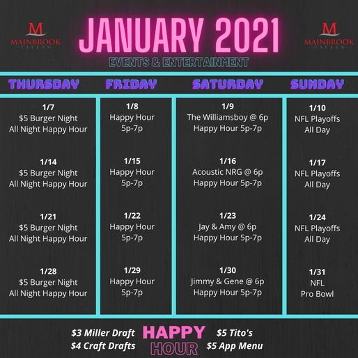 January 2021 Events