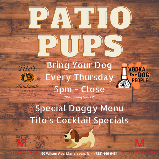 Patio Pups: Have a drink with your dog!!!