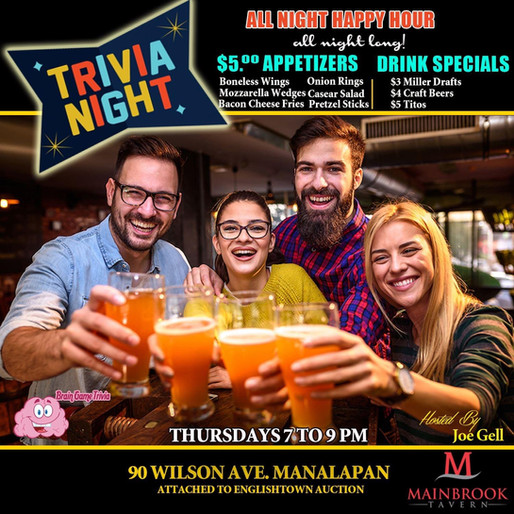 Trivia Thursdays at the Tavern!!!