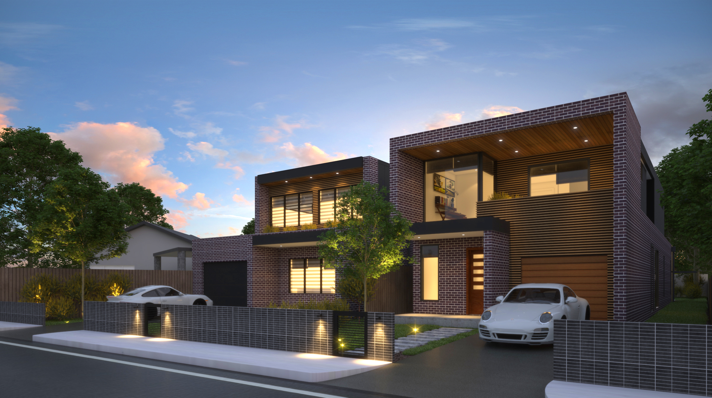 Duplex with no common wall